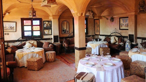 Dining room at a restaurant in Marrakech