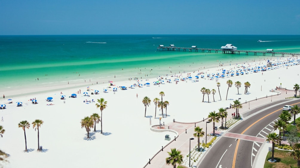 Clearwater Beach and boardwalk in Florida.