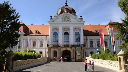 View of the front of the Godollo Palace in Hungary