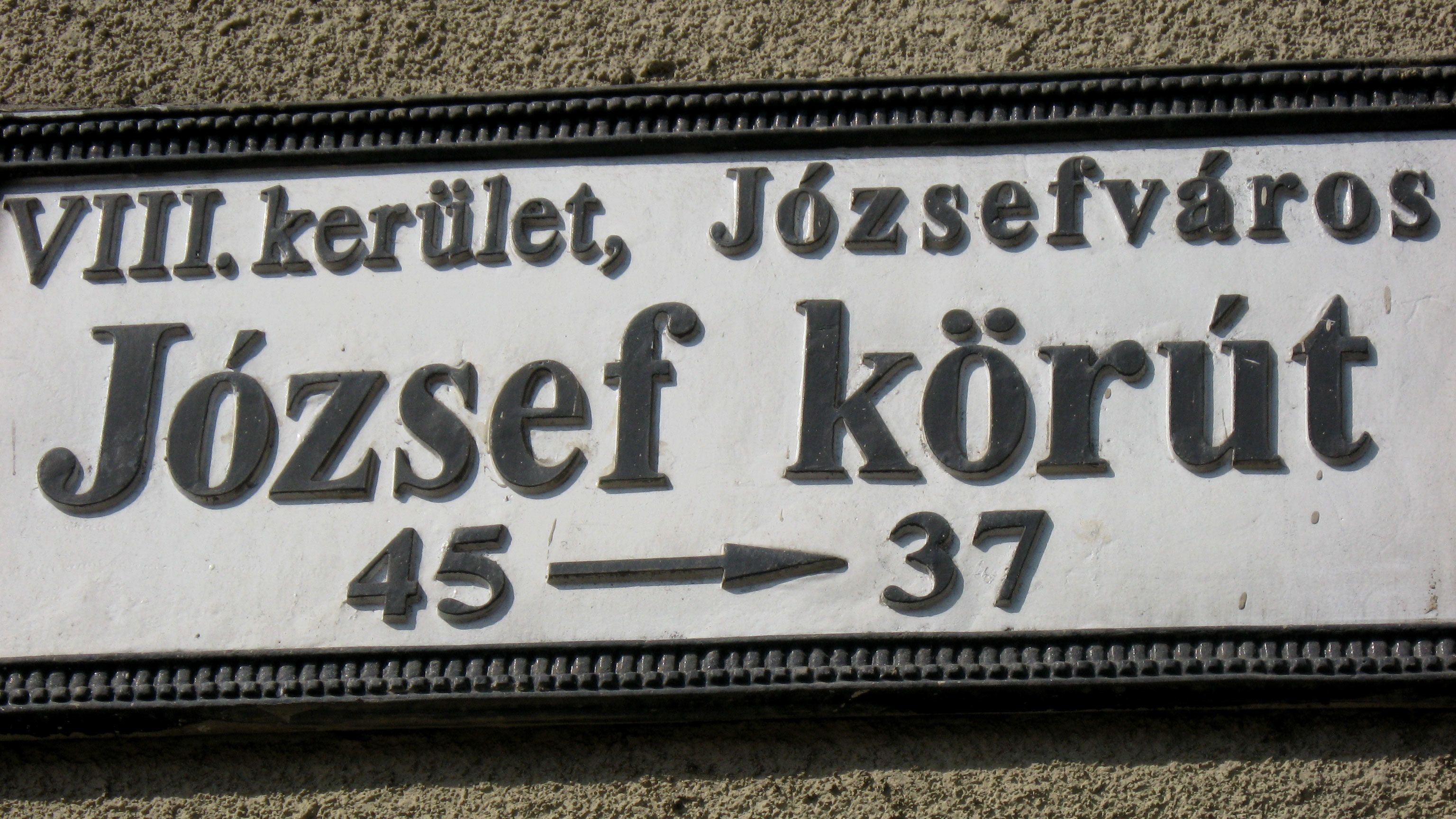 Hungarian sign in Budapest