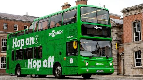 View of the DoDublin Hop-on Hop-off bus on tour in Dublin