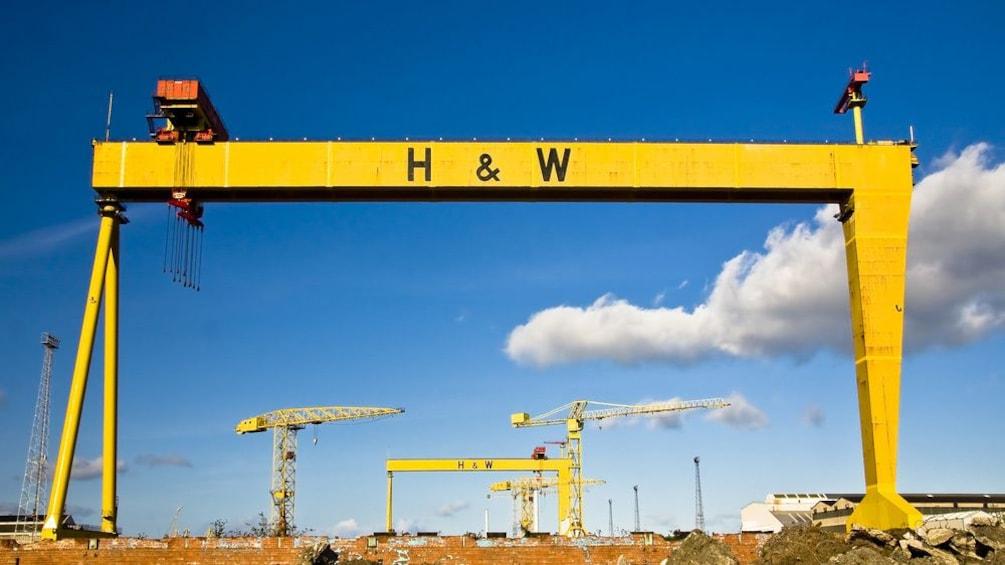 Show item 3 of 10. Samson and Goliath Cranes in Dublin