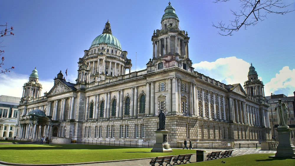 Gorgeous view of Belfast City Hall