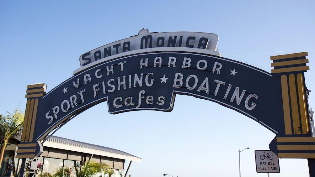 Show item 3 of 9. Santa Monica Yacht Harbor sign.