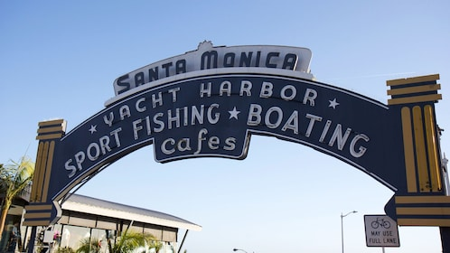Santa Monica Yacht Harbor sign.