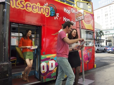 Getting off the Starline CitySightseeing Bus at Stop 1 Chinese Theatre.jpg