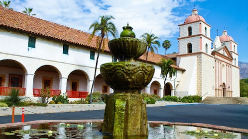Spanish Mission style building in California.