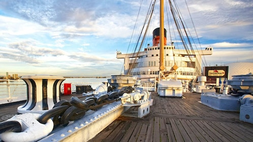 Top deck of the Queen Mary.