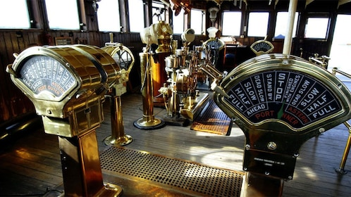 Ship controls of the Queen Mary.