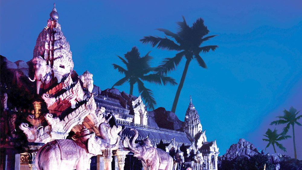 View of Phuket FantaSea Cultural Theme Park in Thailand