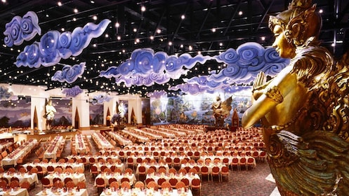 dining hall at the FantaSea Cultural Theme Park in Thailand
