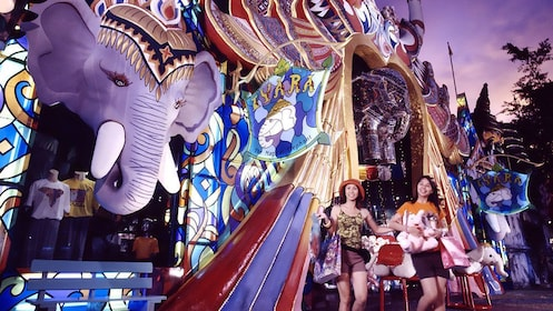 shopping at the FantaSea Cultural Theme Park in Thailand