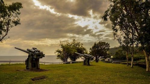 Historical gun placements on Corregidor Island