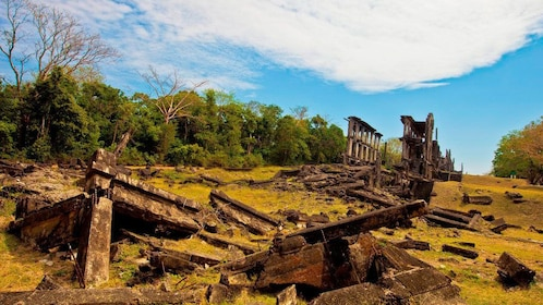 Remains of buildings on Corregidor Island