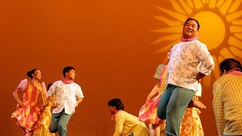 Dancers performing onstage in Manila