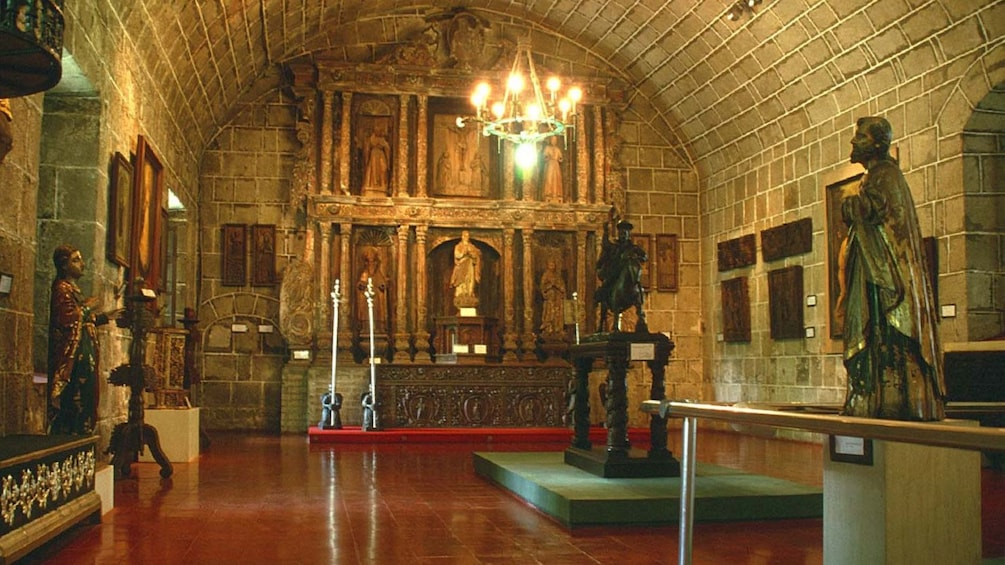 Show item 4 of 7. Sculptures inside a church in Manila