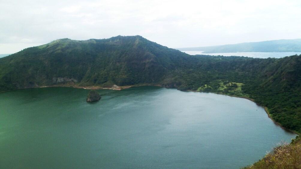 Taal Volcano crater lake in Manila