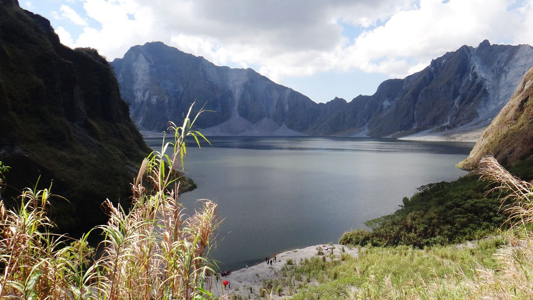 Crater lake at the bottom of Mount Pinatubo in the Philippines