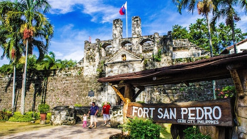 Sign in front of Fort San Pedro in Cebu City