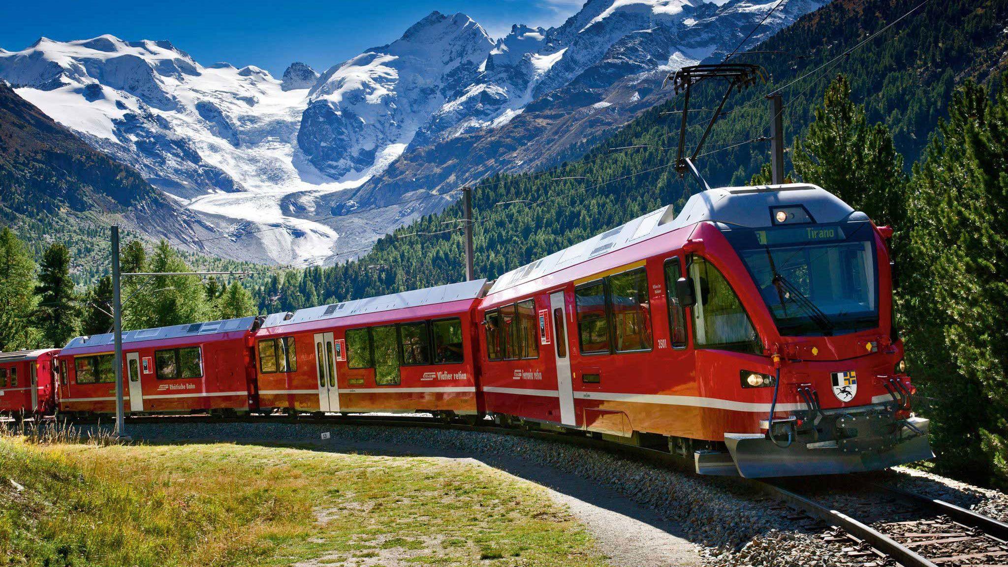 Treintour naar St. Moritz met de Bernina Express