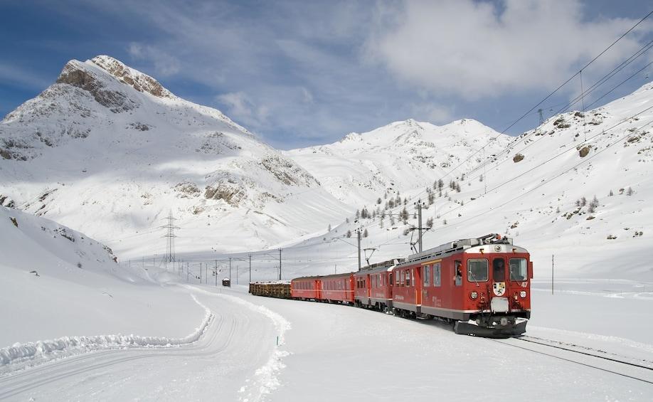 Bernina Express Rail Tour to St. Moritz