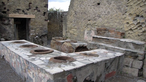 Remains of a kitchen in Herculaneum