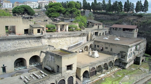 Overhead view of the ruins of Herculaneum