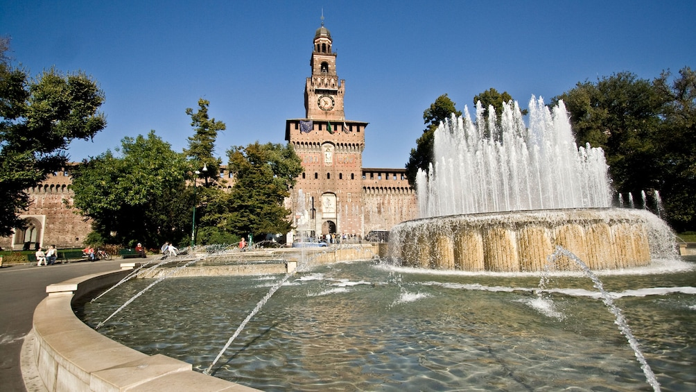 fountain near milan