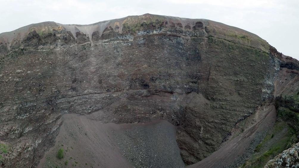 Show item 2 of 6. Volcanic cliffs on Mt Vesuvius in Pompeii