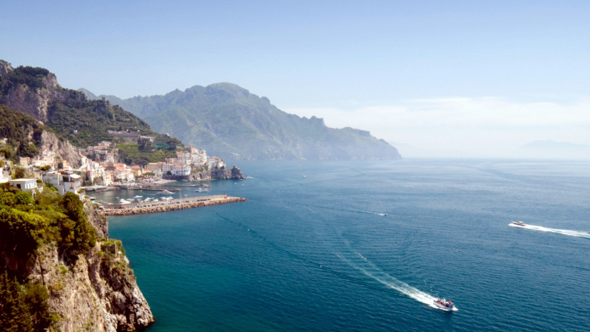 Town on the Amalfi Coast in Italy