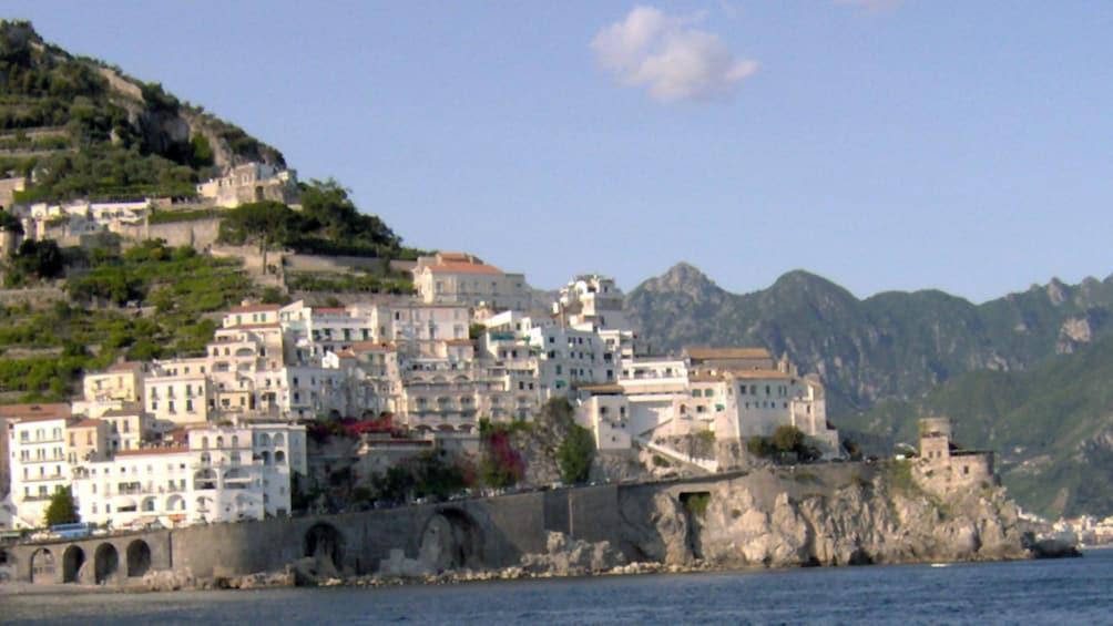 Hillside town along the Amalfi Coast in Italy