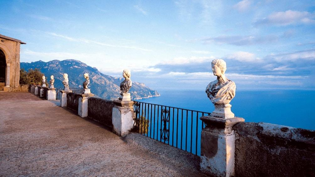 Scenic terrace overlooking the Amalfi Coast in Italy