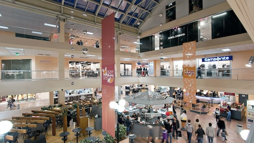 Interior of FoxTown near Milan