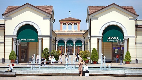 Exterior of Serravalle Outlet near Milan