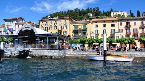 city of Bellagio on lake Como near Milan Italy