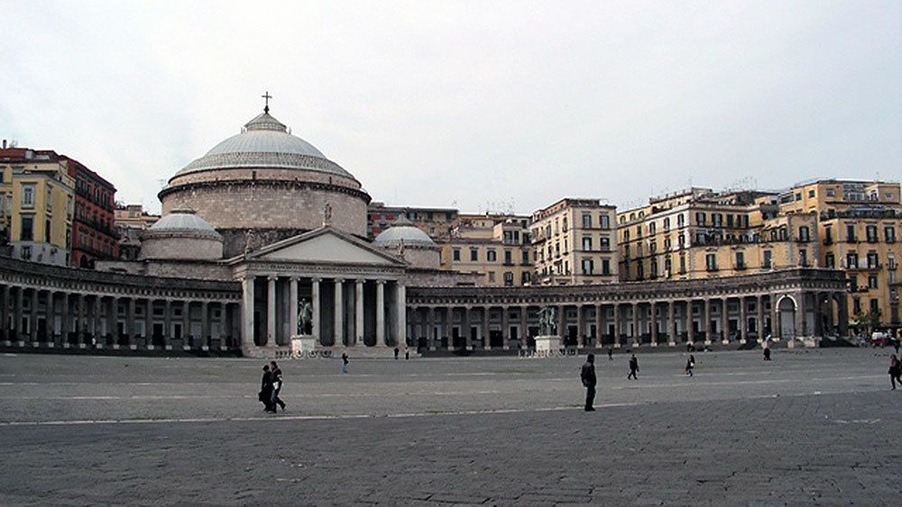Piazza Plebiscito square in Naples