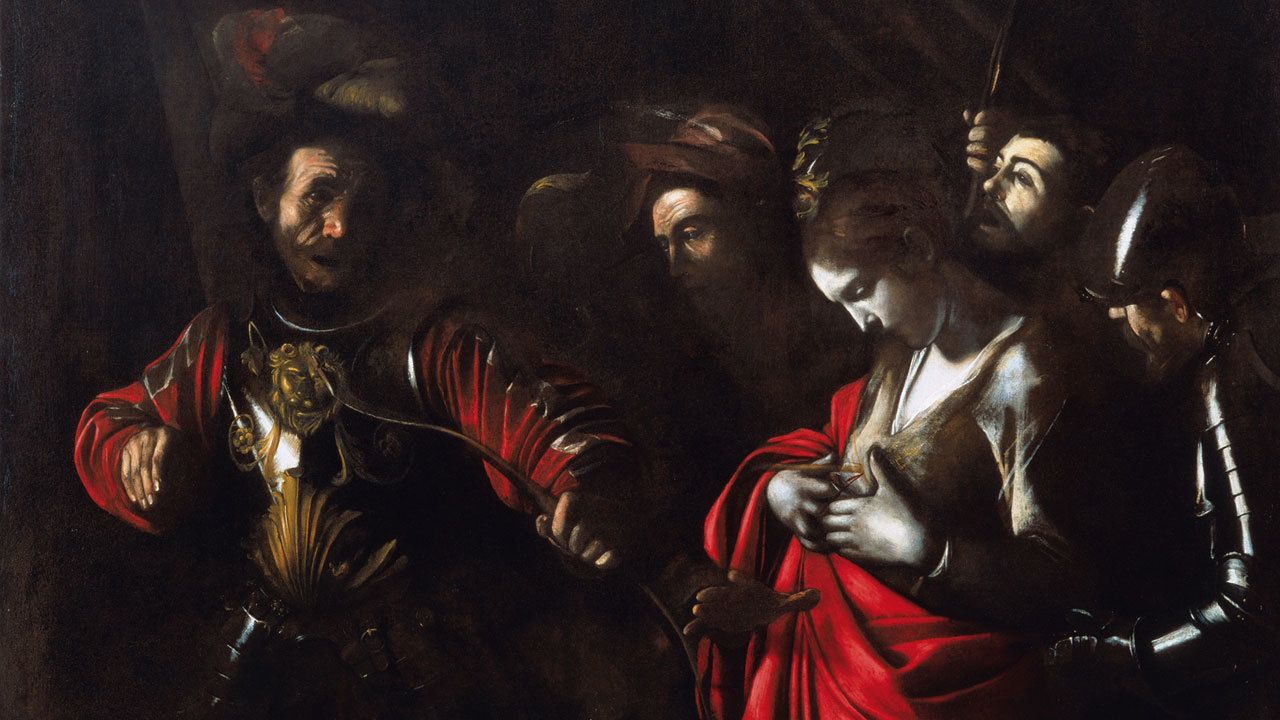 Caravaggio painting at the Zevallos Gallery in Naples