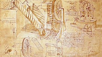 Spring køen over Da Vincis Den sidste nadver og Codex Atlanticus