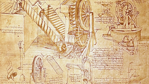 DaVinci drawings in Italy