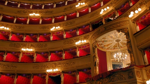 auditorium interior in Milan Italy