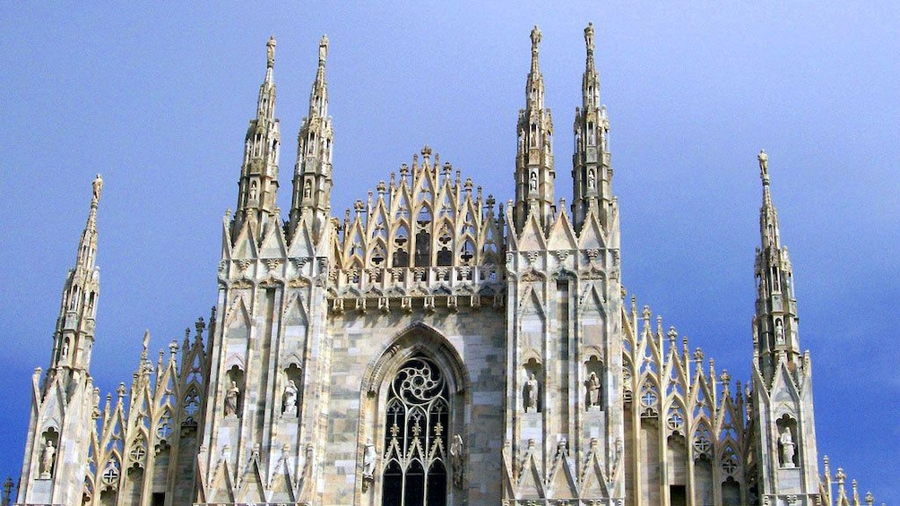 Show item 4 of 10. Cathedral exterior in Milan Italy