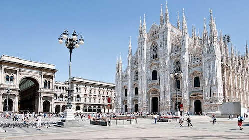 Cathedral exterior in Milan Italy
