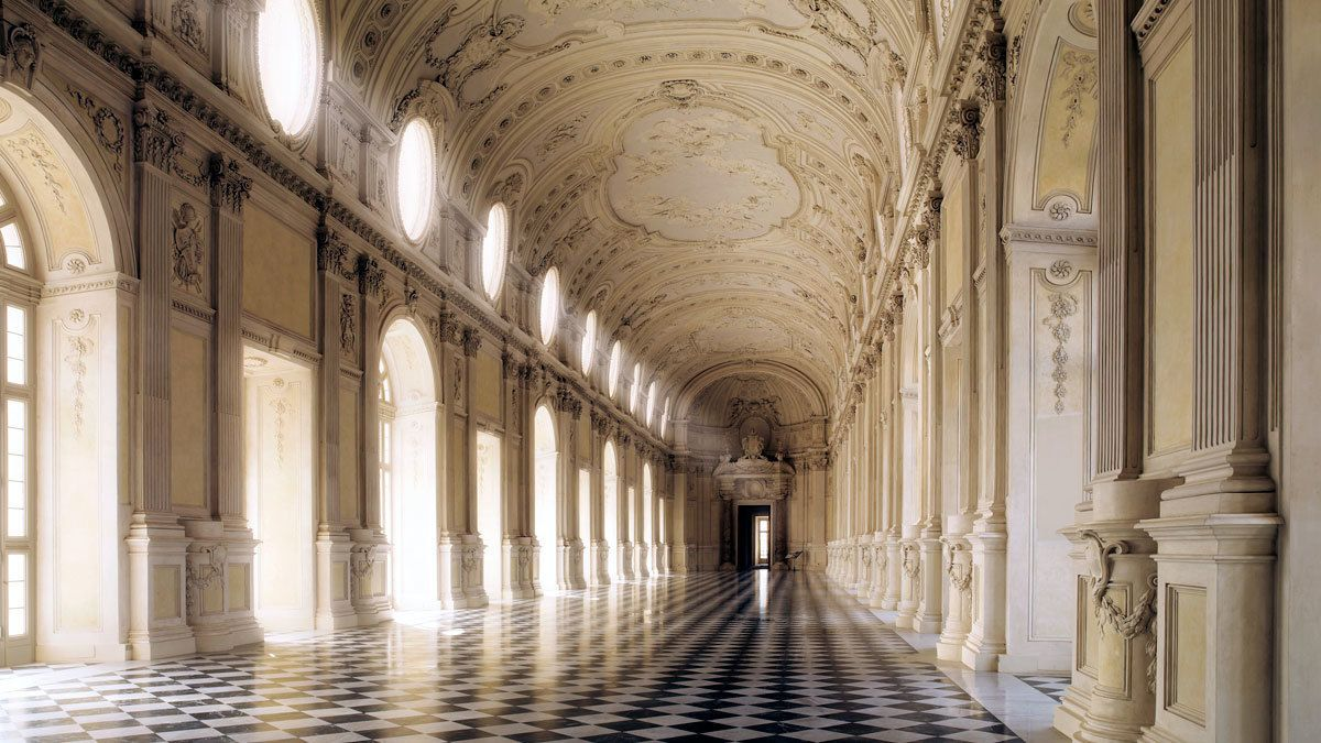 An ornate hall of a building in Piedmont