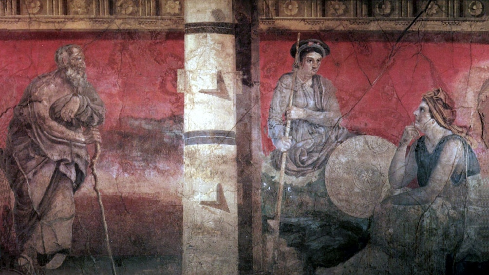 Charger l'élément 2 sur 10. Roman frescoes at the Archaeological museum in Naples