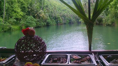 Catered lunch in front of the waters in Bohol