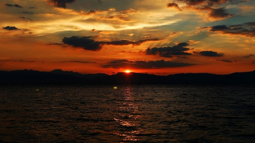 Gorgeous sunset view of Sumilon Island of the Philippines