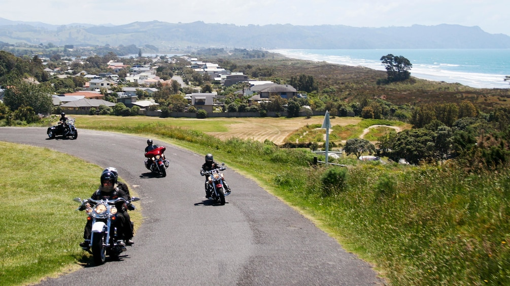 Show item 5 of 5. Motorcycles cruising in New Zealand