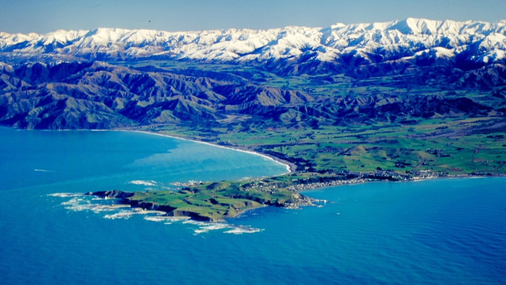 Show item 5 of 5. Aerial view of coastline in Christchurch