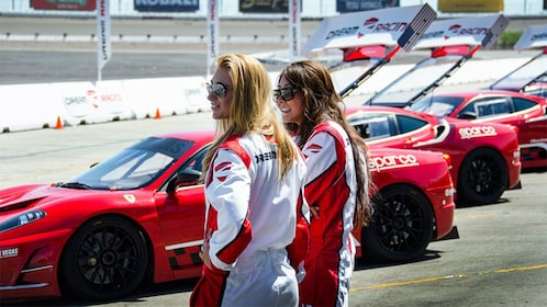 Get ready for an adrenaline rush when you drive a Ferrari race car on the Las Vegas Motor Speedway