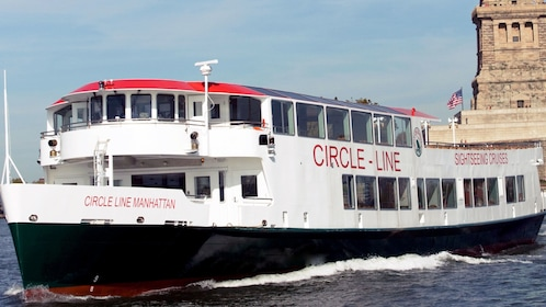 Sightseeing cruise near Liberty Island in New York